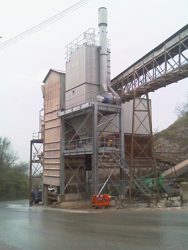 Pulse Jet Bagfilter on Batts Combe Asphalt Plant